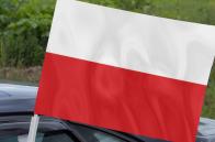 Автомобильный флаг Польши