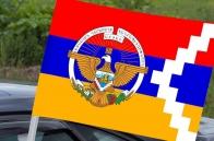 Автомобильный флаг Республики Арцах с гербом