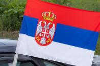 Автомобильный флаг Сербии