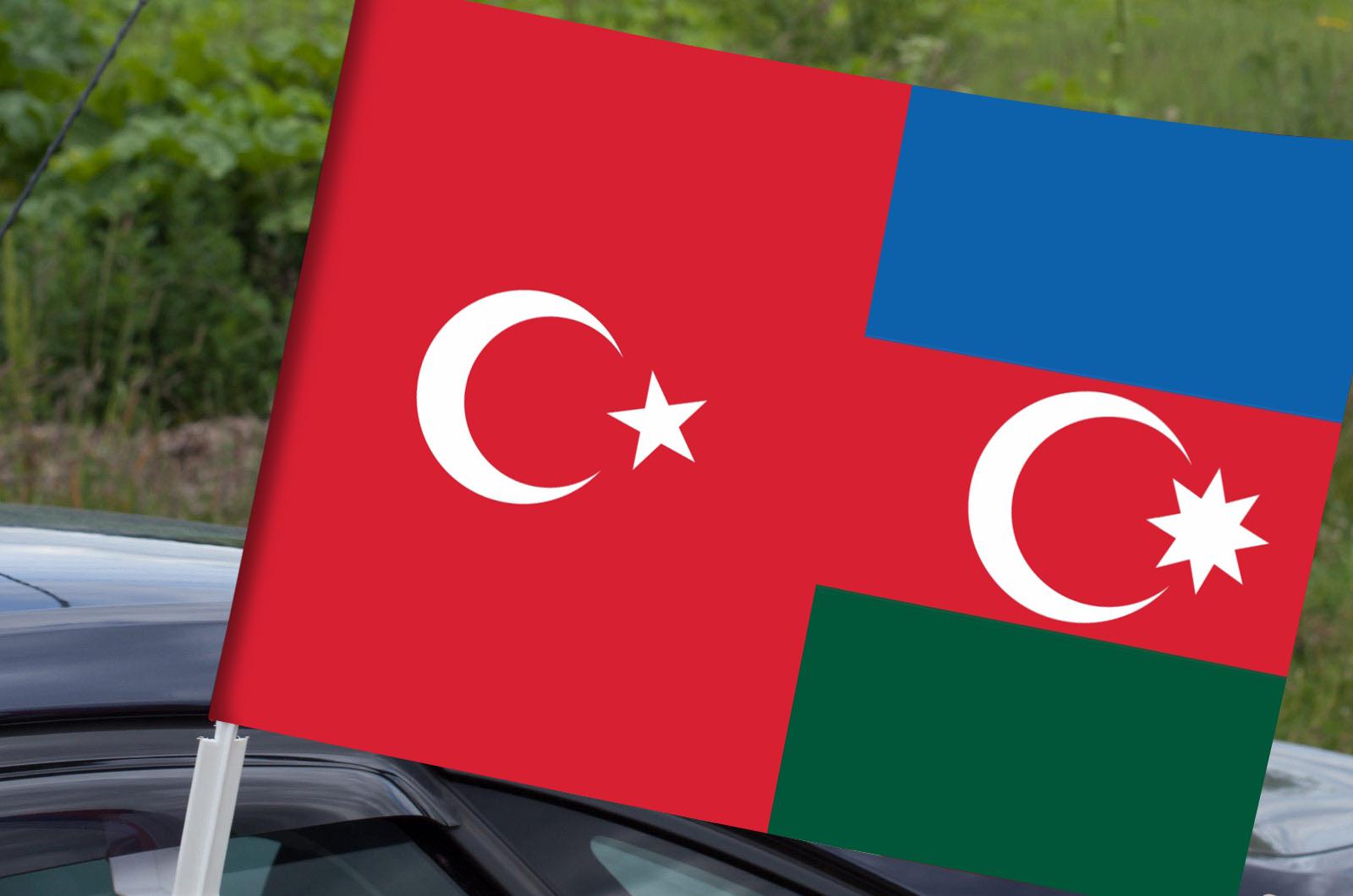 Автомобильный флаг Турция-Азербайджан
