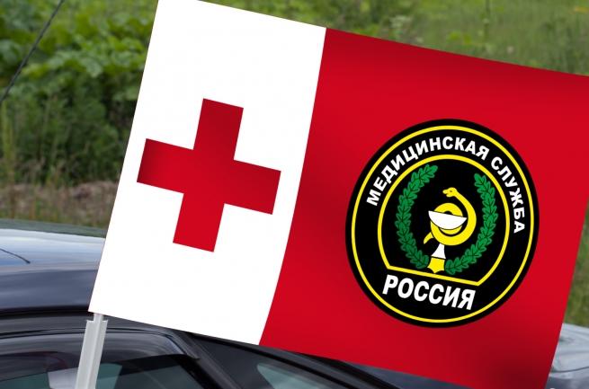 Автомобильный флаг Военной Медицинской службы России