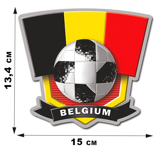 Автонаклейка виниловая сборной Бельгии