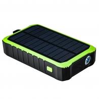 Автономный повербанк на 12000 mAh c зарядкой от сети, динамо-машины, солнечной панели