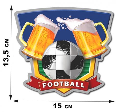 Авторская футбольная наклейка