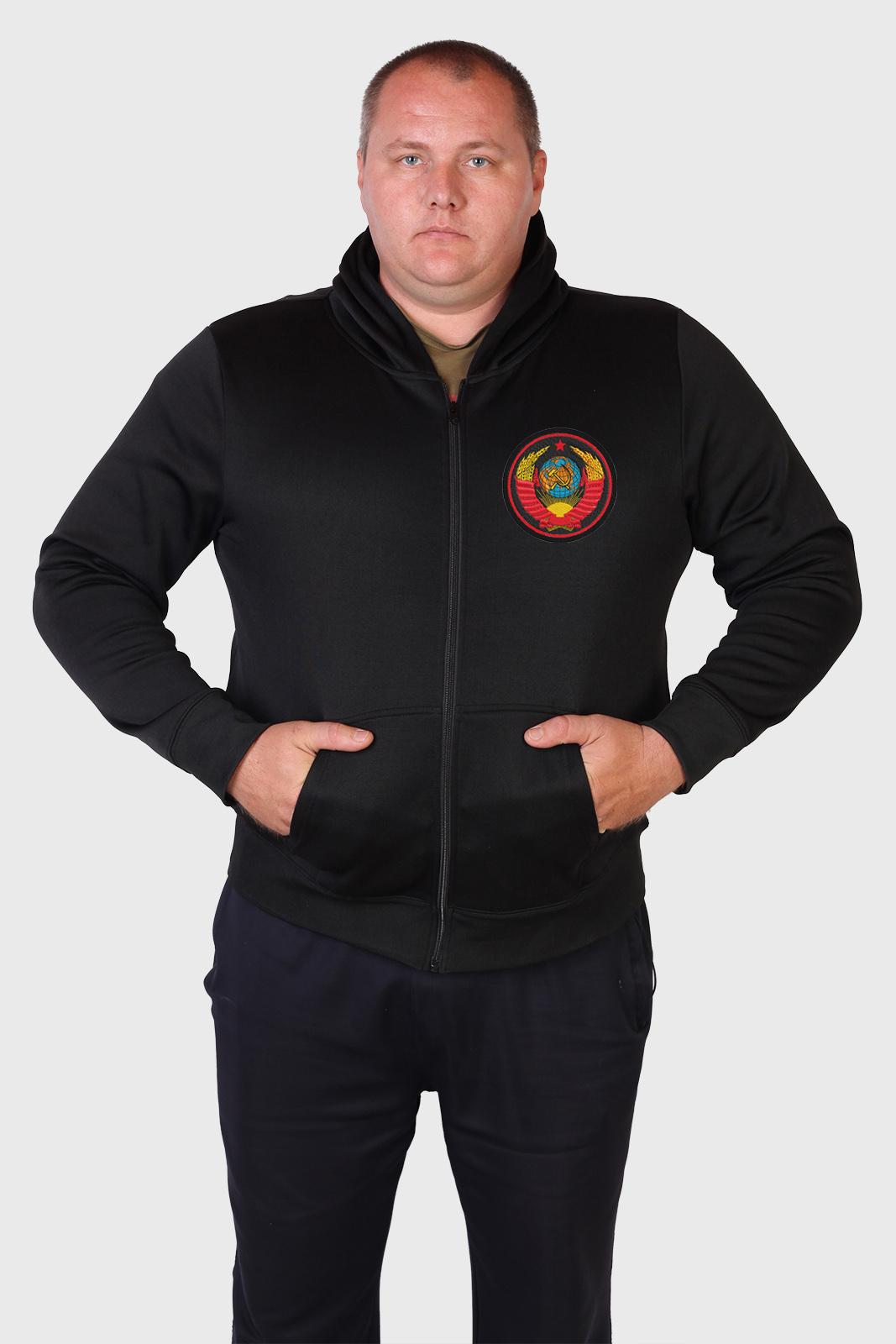 Ажиотажная мужская толстовка на молнии с гербом СССР.