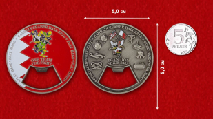 Bahrain Seabee Ball 2015 Challenge Сoin-Opener - comparative size