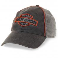 Байкерская бейсболка Harley-Davidson – если мотоциклист не в шлеме, значит, он в стильной кепке