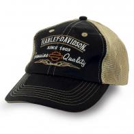 Байкерская бейсболка бренда Harley Davidson