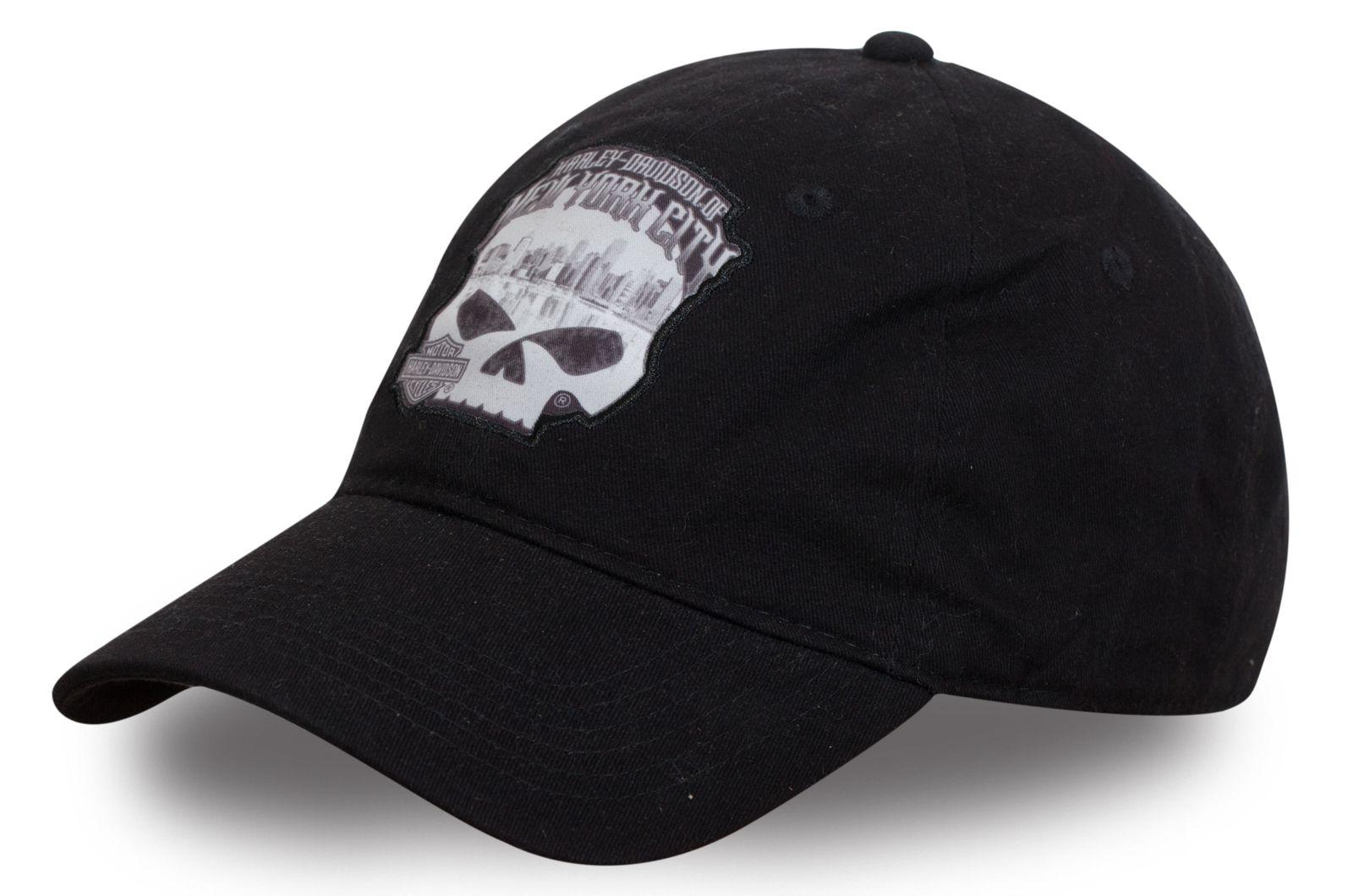 Байкерская бейсболка с черепом - купить по низкой цене