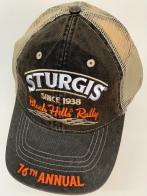 Байкерская бейсболка Sturgis с сеткой