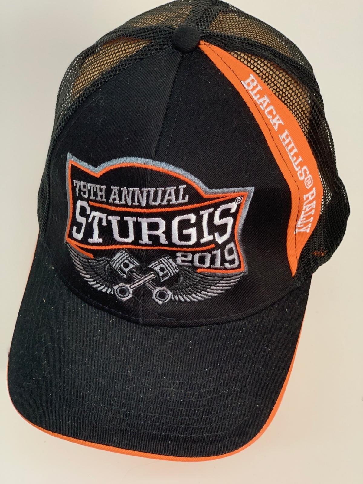 Байкерская бейсболка Sturgis с сеткой черного цвета