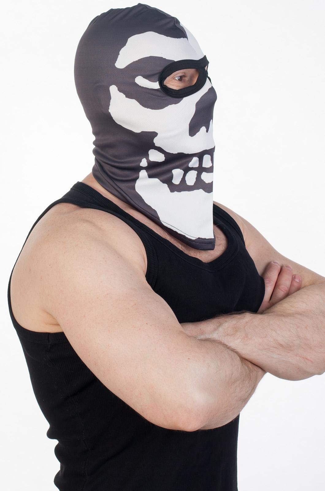 Байкерская маска - балаклава с черепом