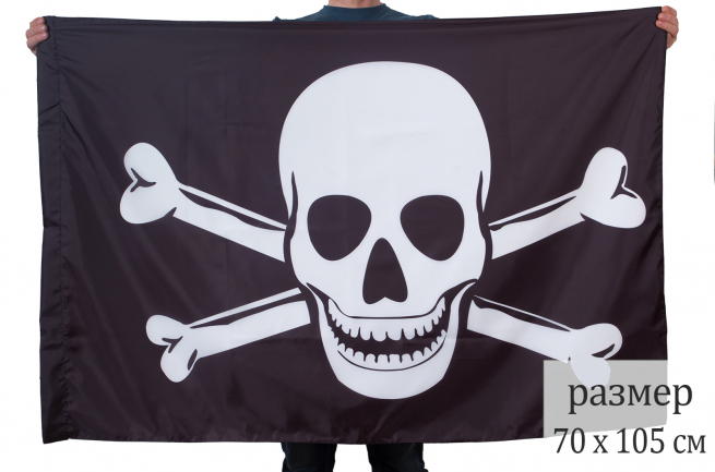 Байкерский флаг с костями