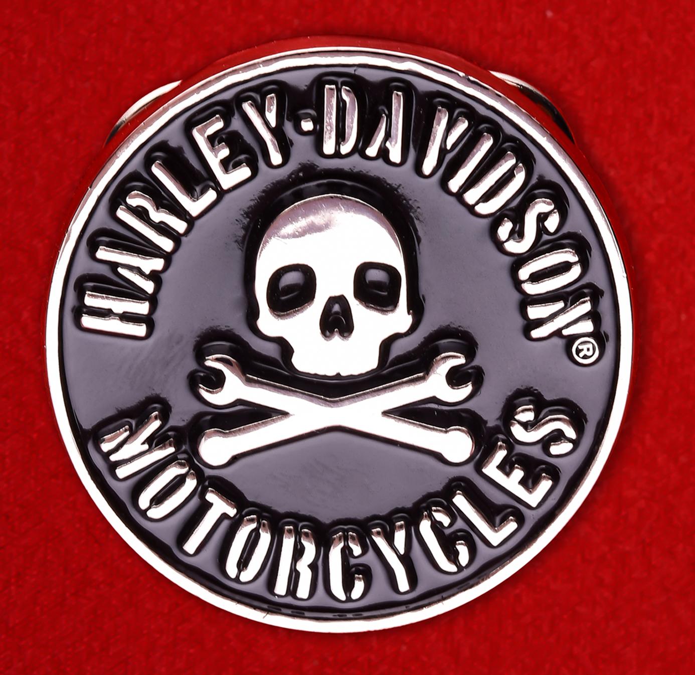 "Байкерский значок ""Мотоцикл Harley-Davidson"""