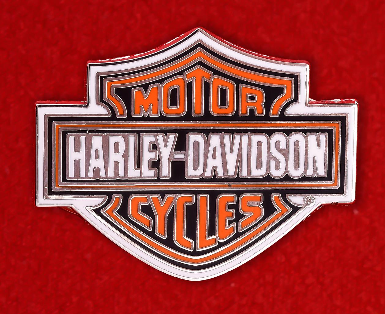 """Байкерский значок США """"Харлей-Дэвидсон"""""""