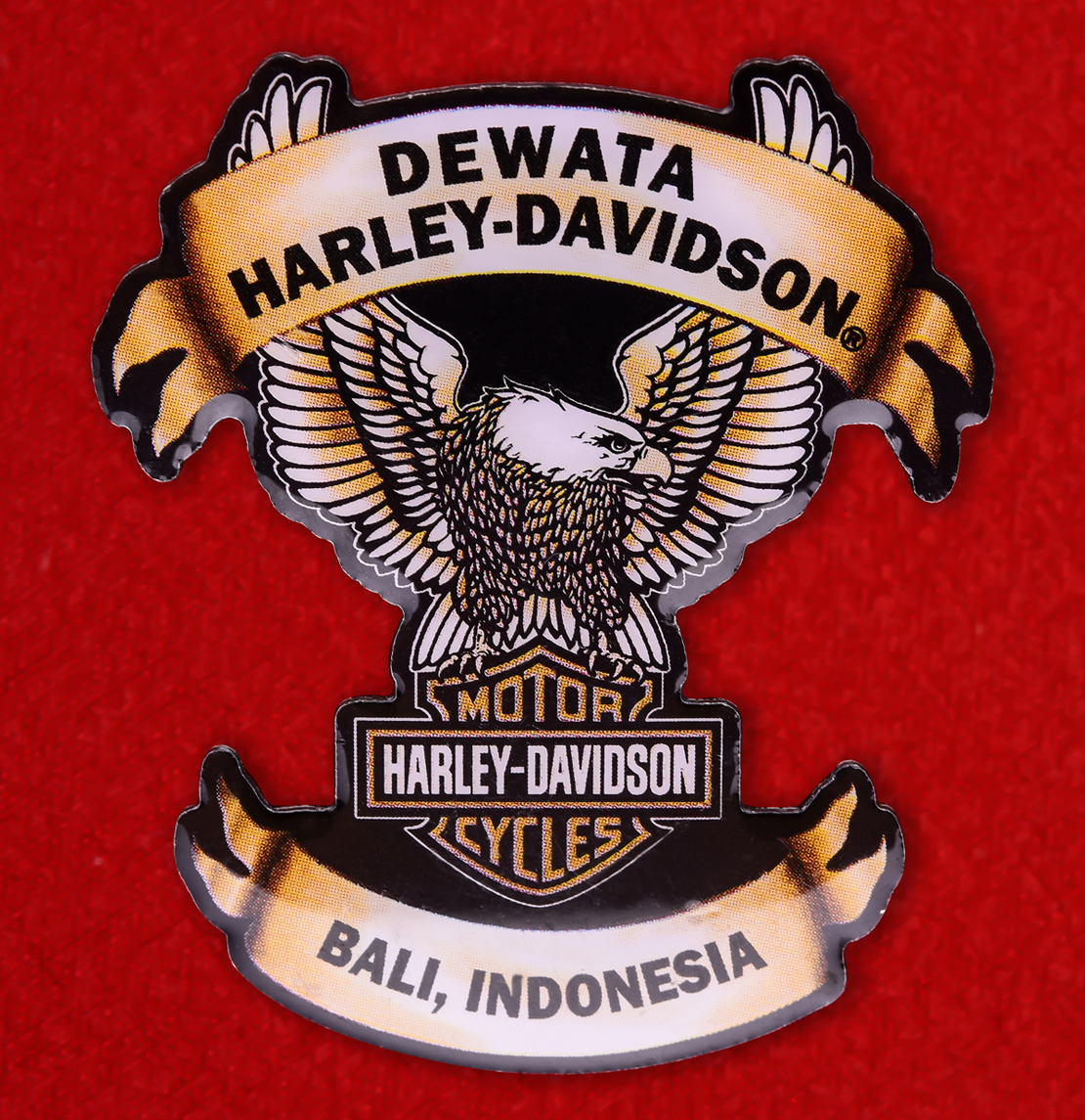 """Байкерский знак """"Харлей-Дэвидсон, Бали, Индонезия"""""""
