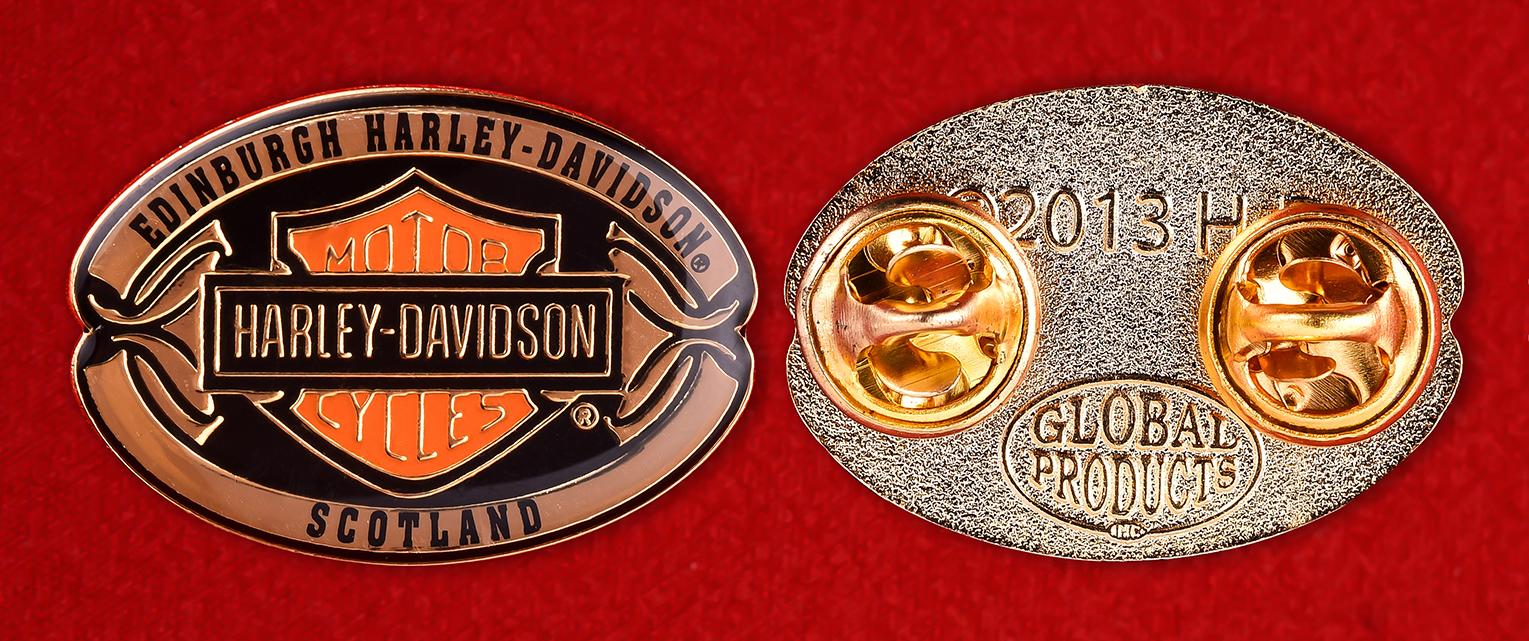Коллекционный значок клуба байкеров Эдинбурга, Шотландия