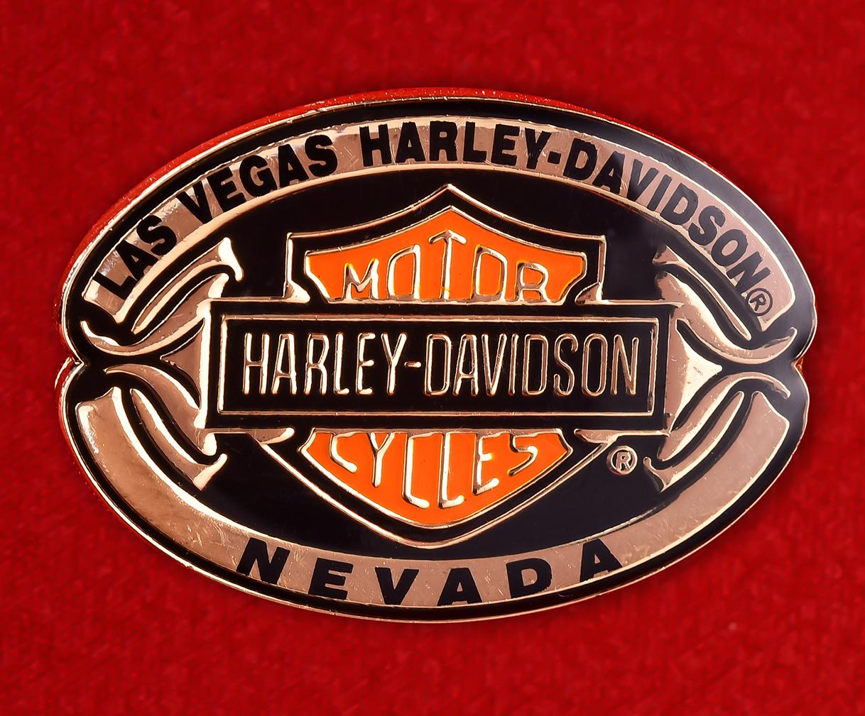 "Байкерский знак ""Харлей-Дэвидсон, Лас-Вегас, Невада"""