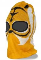 Балаклава из трикотажа с вырезами для глаз - отменный головной убор для занятий спортом
