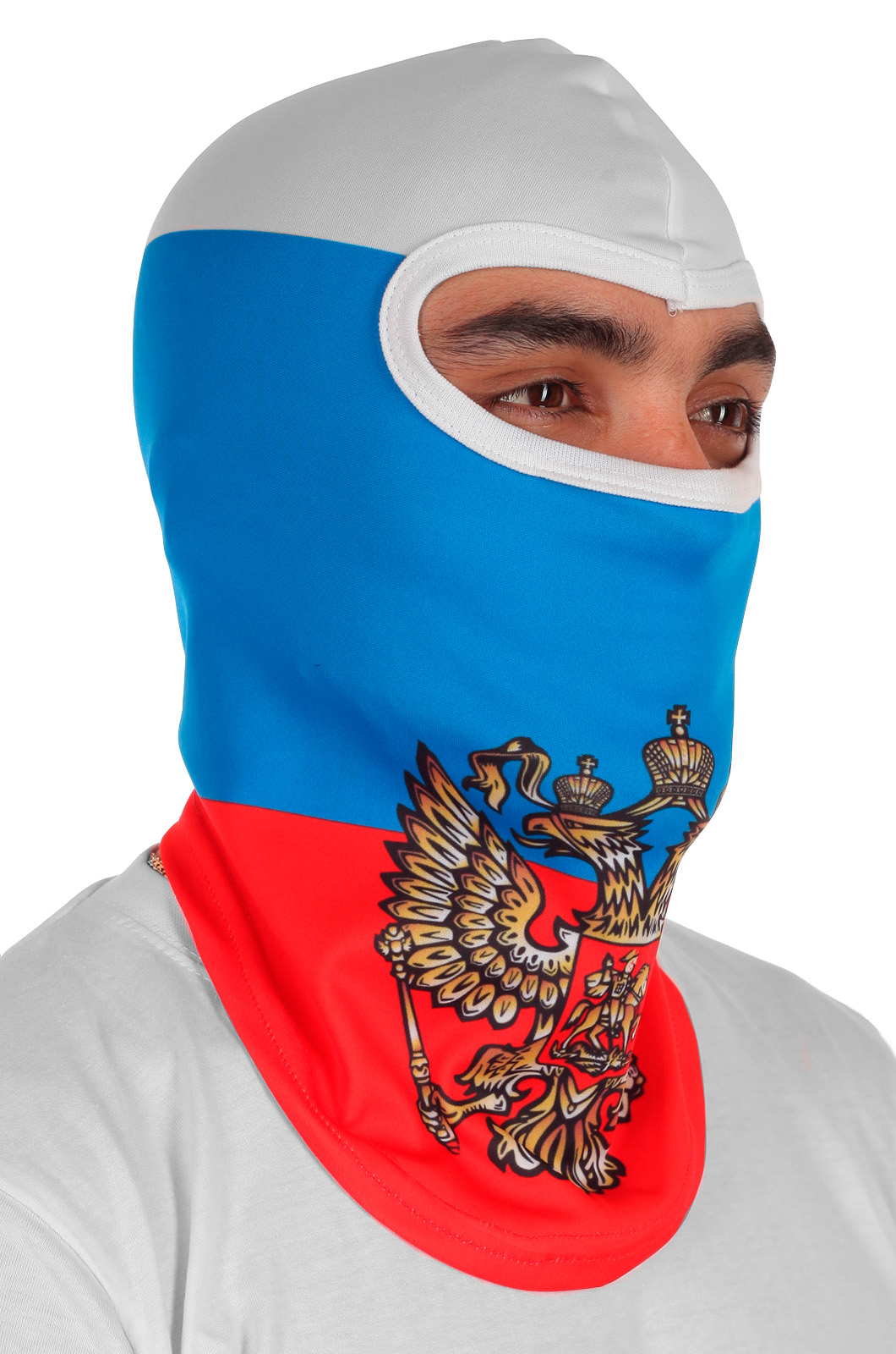 Балаклава триколор с гербом России по выгодной цене