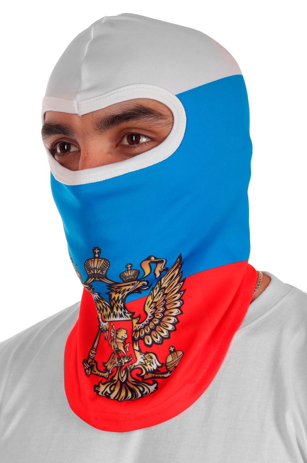 Балаклава триколор с гербом России