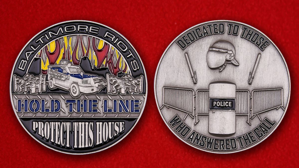 Baltimore polise tactical unit Challenge Coin - obverse and reverse