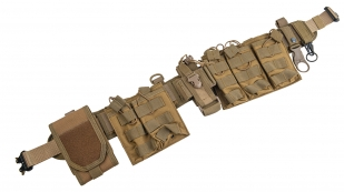 Бандаж поясной разгрузочный на фастексе Cobra с утилитарными подсумками (хаки-песок)