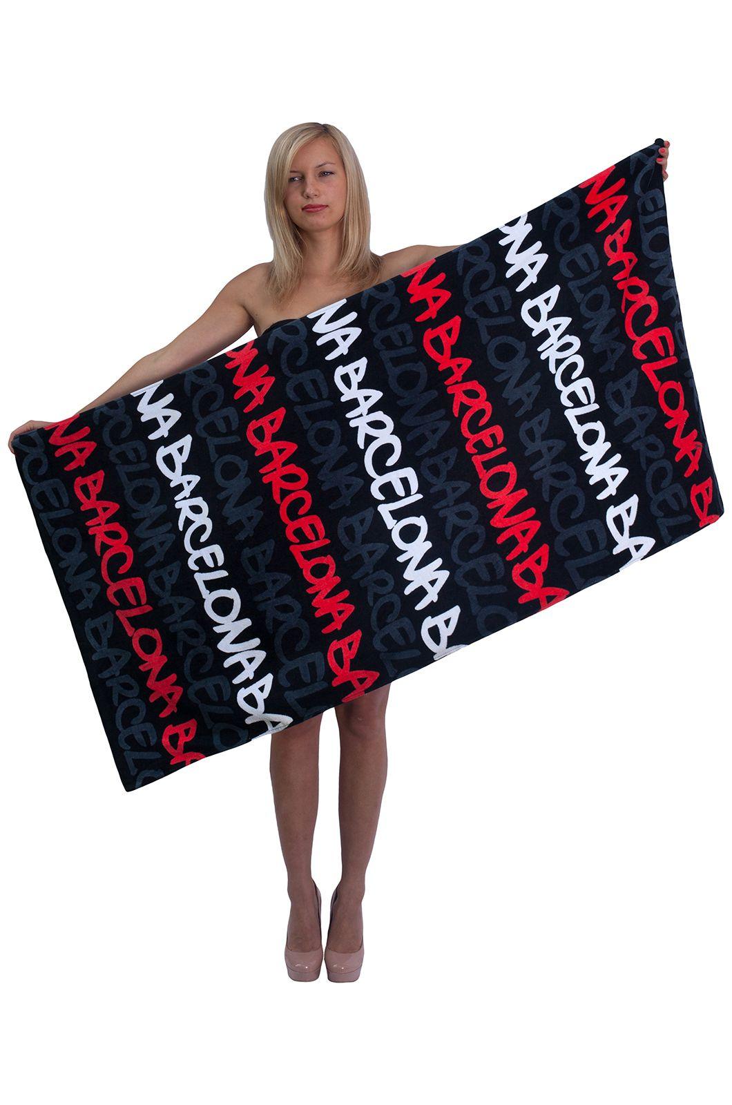 """Банное полотенце с надписью """"Barcelona"""" - купить недорого с доставкой"""