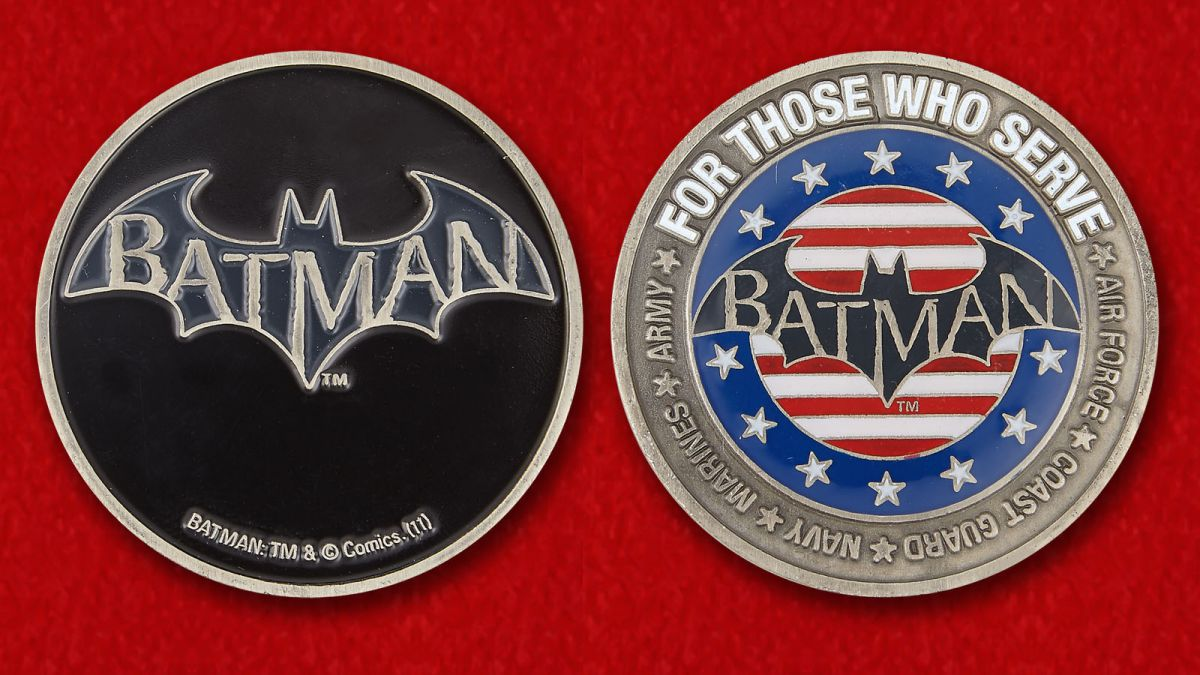 Batman Challenge Coin - obverse and reverse