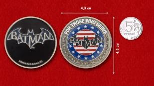 Batman Challenge Coin - comparative size