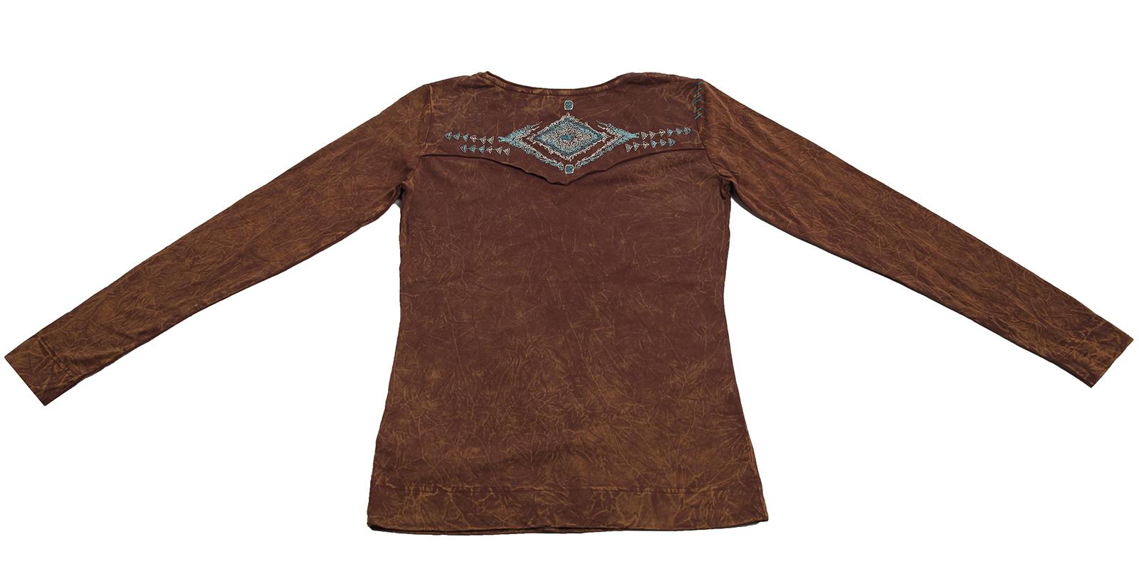 Купить базовую коричневую кофточку в стиле Casual от Panhandle Slim для смелых решений по лояльной цене