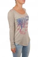 Бежевая женская кофточка с ажурным «хвостом». Авангардная дизайнерская идея от ТМ Rock and Roll Cowgirl сочетать хаос и гламур