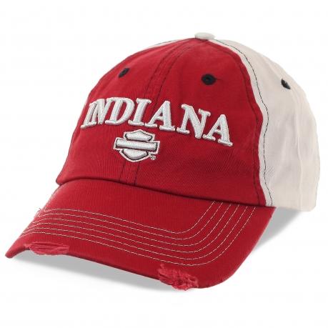 Бейсболка Indiana – эффектные потертости и стильная объемная вышивка. Выбери свой стиль и найди в себе смелость придерживаться его