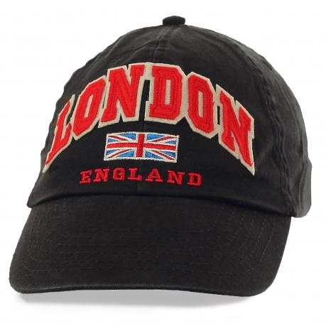 Бейсболка London – дизайнерская надпись-аппликация + профессиональная вышивка. Всё когда-то выходит из моды, кроме стильных аксессуаров