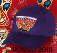 Фанатская бейсболка «Россия» – тебе поможет болеть русский медведь.
