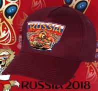Бейсболка с мощным, но добрым русским медведем