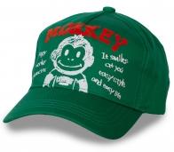 Хлопковая зеленая бейсболка Happy Monkey.