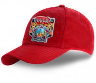 Ярко-красная унисекс бейсболка «ПОБЕДА»