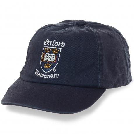 Бейсболка с гербом Оксфорда – удобный фасон Casquett, профессиональная вышивка, легкий приятный материал