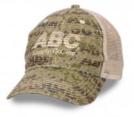 Брендовая бейсболка «ABC Supply» с сеткой