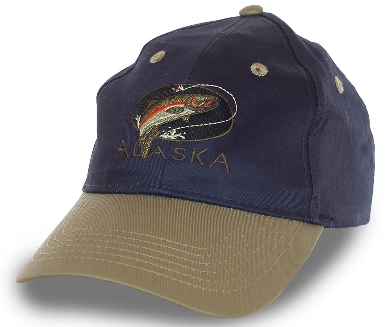 Бейсболка Alaska с рыболовной тематикой. Модель для тех, кто понимает, что рыбалка – это самый трудоёмкий способ расслабиться