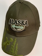 Бейсболка Alaska с вышитым лосем в лесу на козырьке