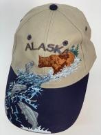 Бейсболка Alaska с вышитым медведем на рыбалке