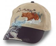 Бейсболка Alaska с эксклюзивной вышивкой – натуралистичный дизайн и металлический фиксатор для регулировки размера. Фасон, который ВНЕ ВРЕМЕНИ!