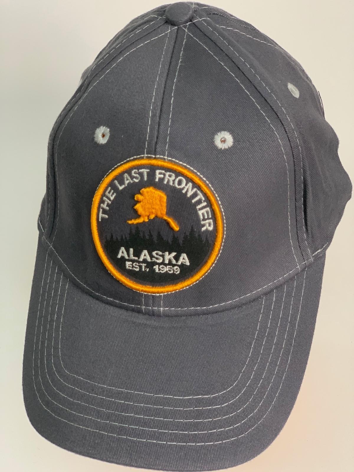 Бейсболка Alaska серого цвета с круглой нашивкой на тулье