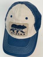 Бейсболка Alaska синего цвета с медведем на белой тулье