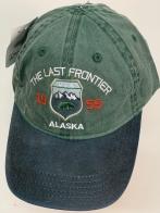 Бейсболка Alaska зеленого цвета с синим козырьком