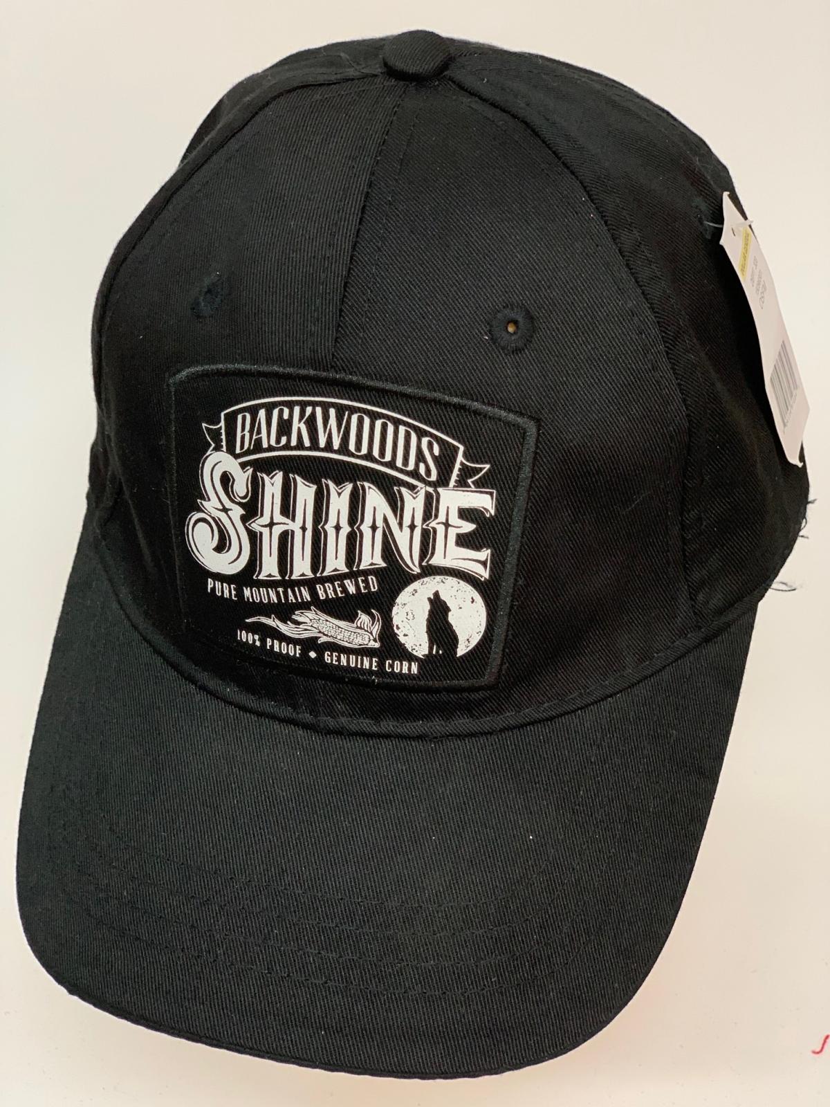Бейсболка Backwoods Shine черного цвета