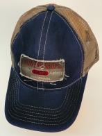 Бейсболка Bass Pro Shops синего цвета с винтажной нашивкой и сеткой