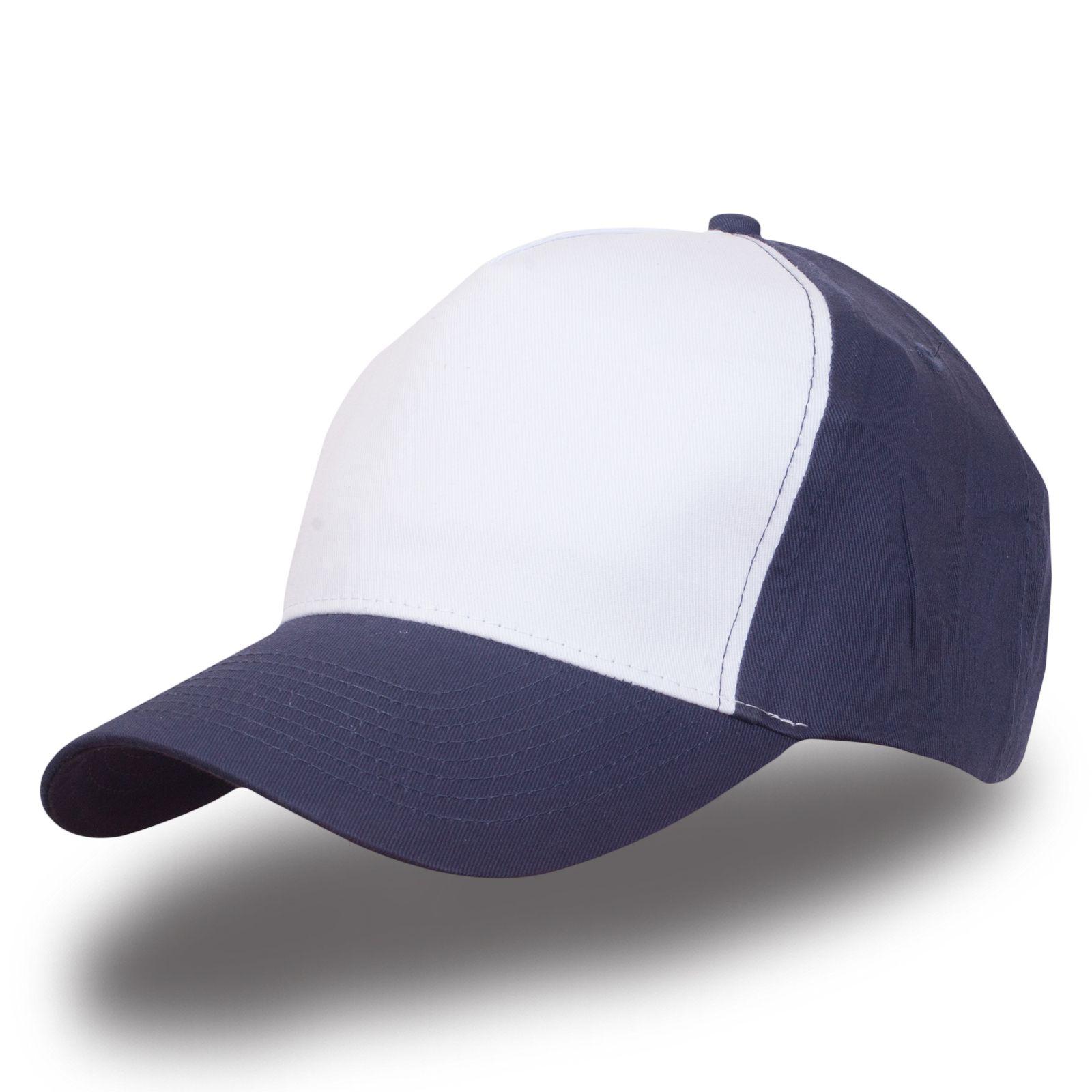Бейсболка бело-синяя - купить в интернет-магазине с доставкой